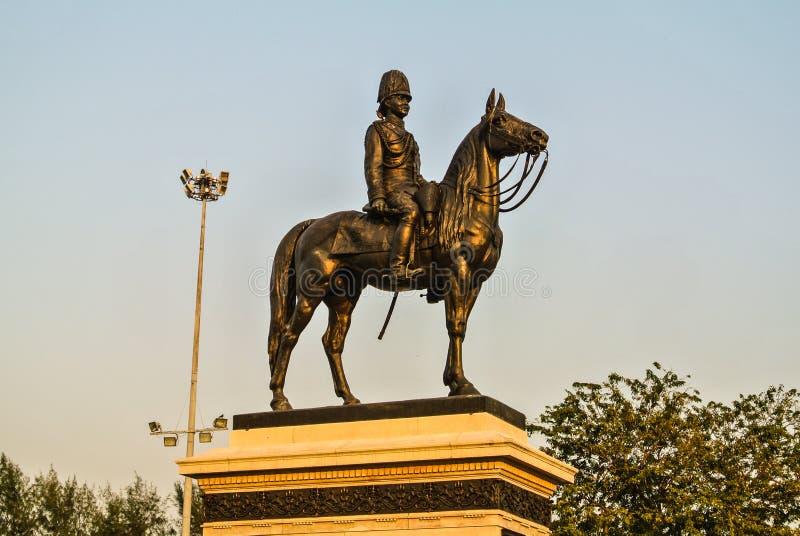Statue équestre de Chulalongkorn le grand à Bangkok, T photographie stock libre de droits