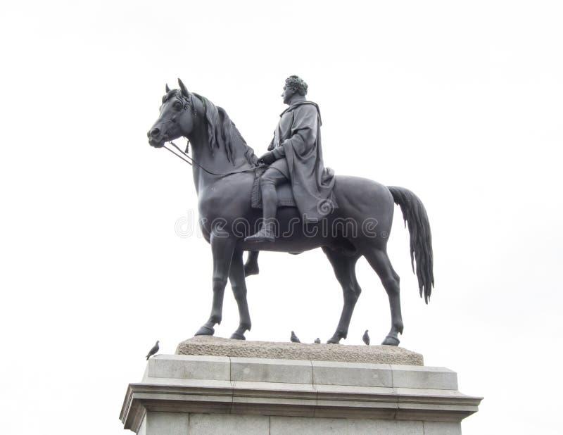 Statue équestre de George IV photo libre de droits
