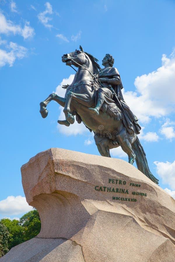 Statue équestre de Peter le grand photo libre de droits