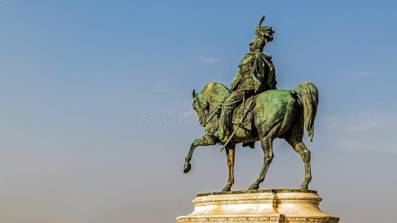 Statue équestre de Victor Emmanuel II photographie stock