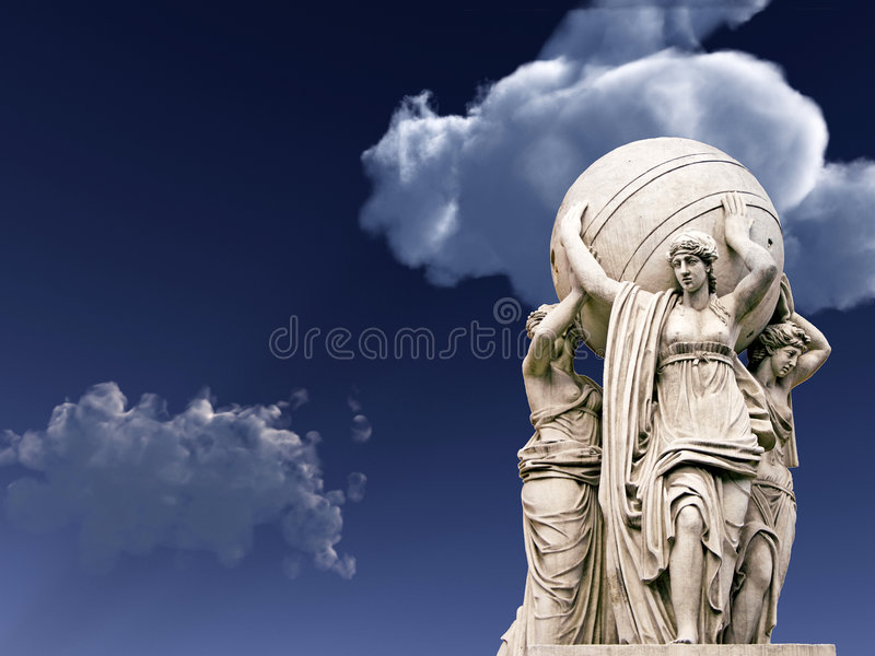 Download Statue stock illustration. Image of white, european, petersburg - 4082496