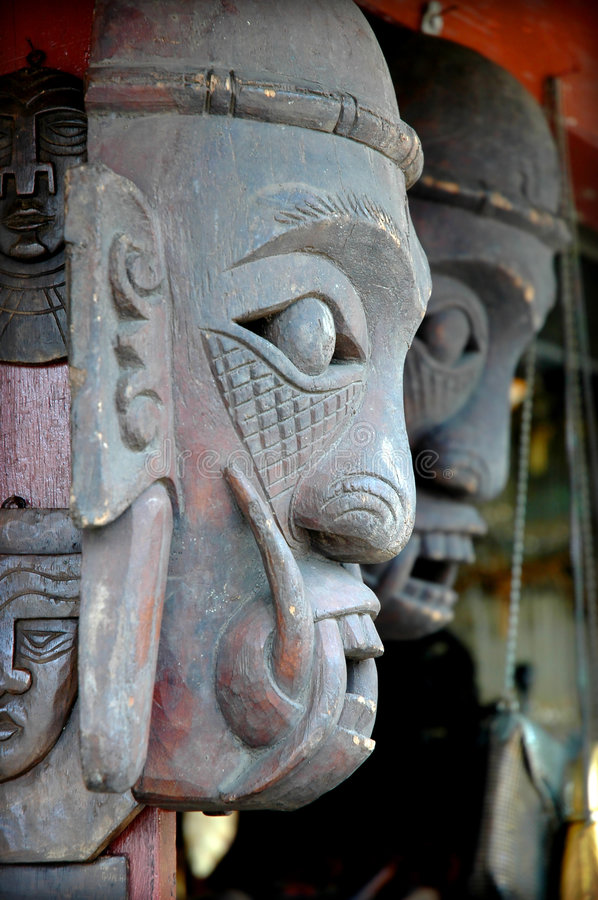 Statue. From side view - taken in Jakarta, Indonesia stock images