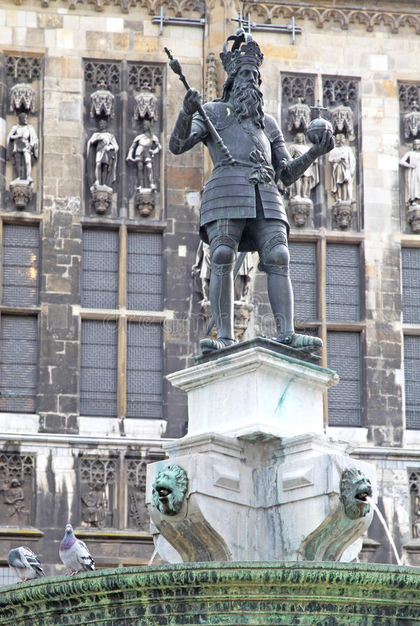 Statue at Aachen, Germany royalty free stock photo