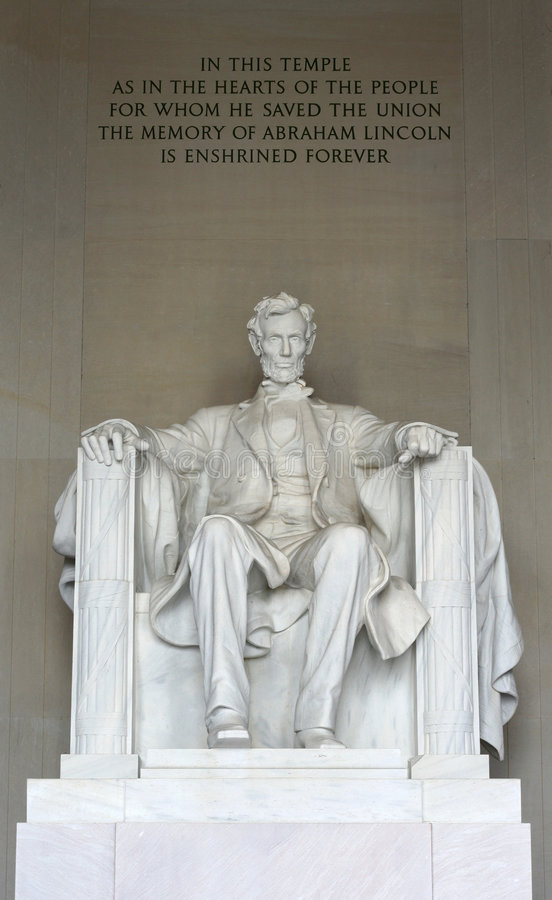 The Statue Of Abraham Lincoln Royalty Free Stock Photo