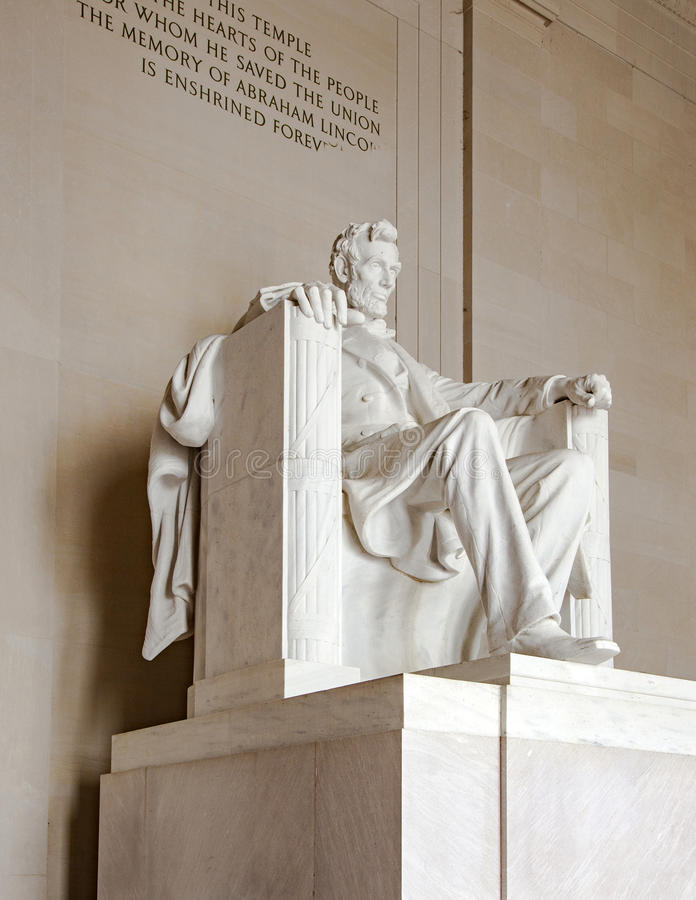Statue of Abraham Lincoln at the Lincoln Memorial. WASHINGTON, USA - JULY 14, 2010: Statue of Abraham Lincoln at the Lincoln Memorial, Washington DC royalty free stock images