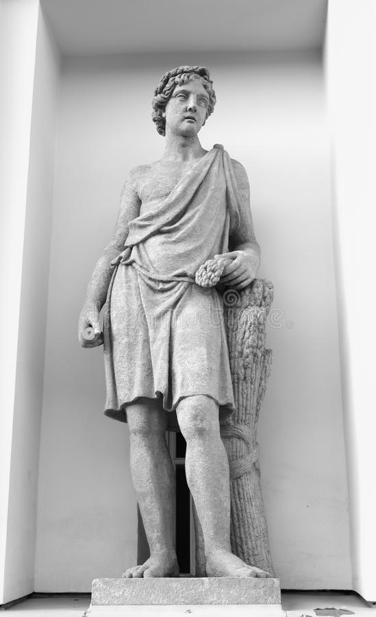 Statue of Adonis. royalty free stock photography
