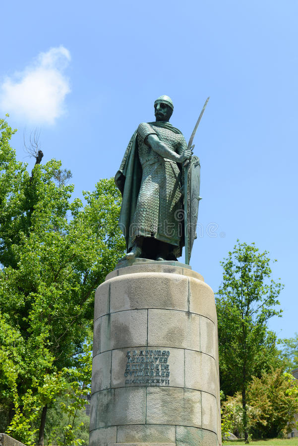 Download Statue Of Afonso I, Guimarães, Portugal Stock Photo - Image: 33724942