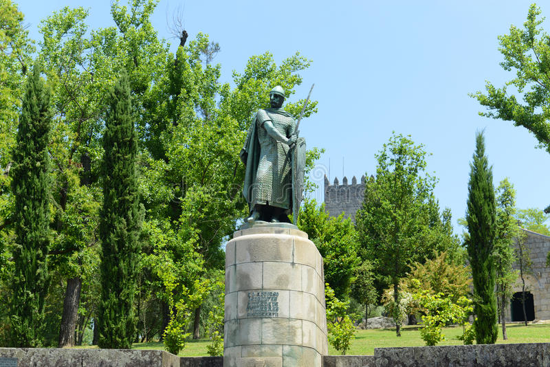 Download Statue Of Afonso I, Guimarães, Portugal Stock Image - Image: 34236937