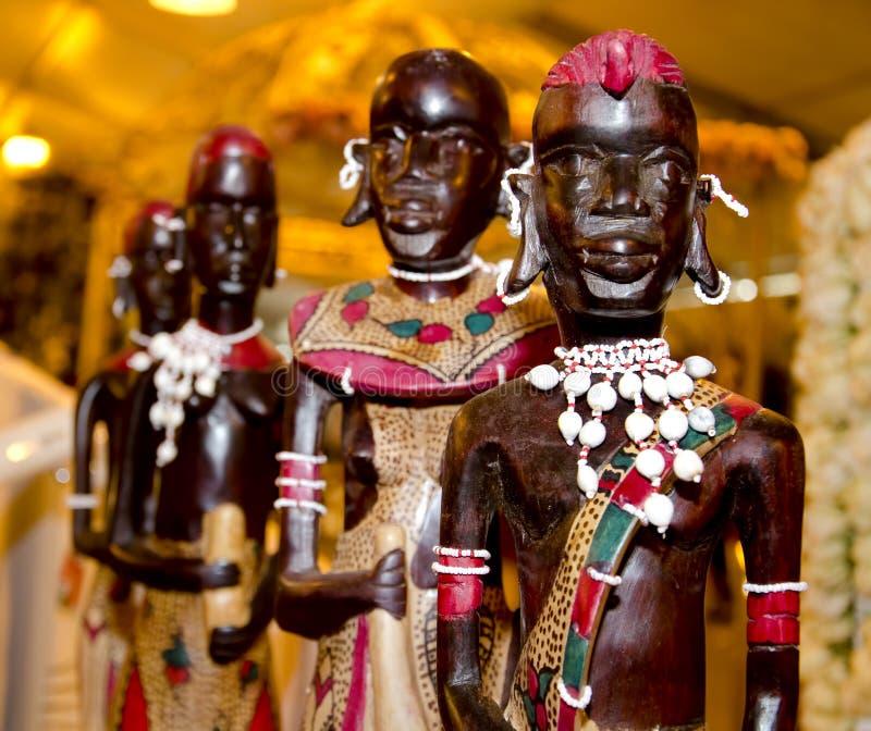 Statue africaine en bois photos libres de droits