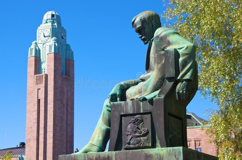 Statue of Aleksis Kivi. Helsinki, Finland