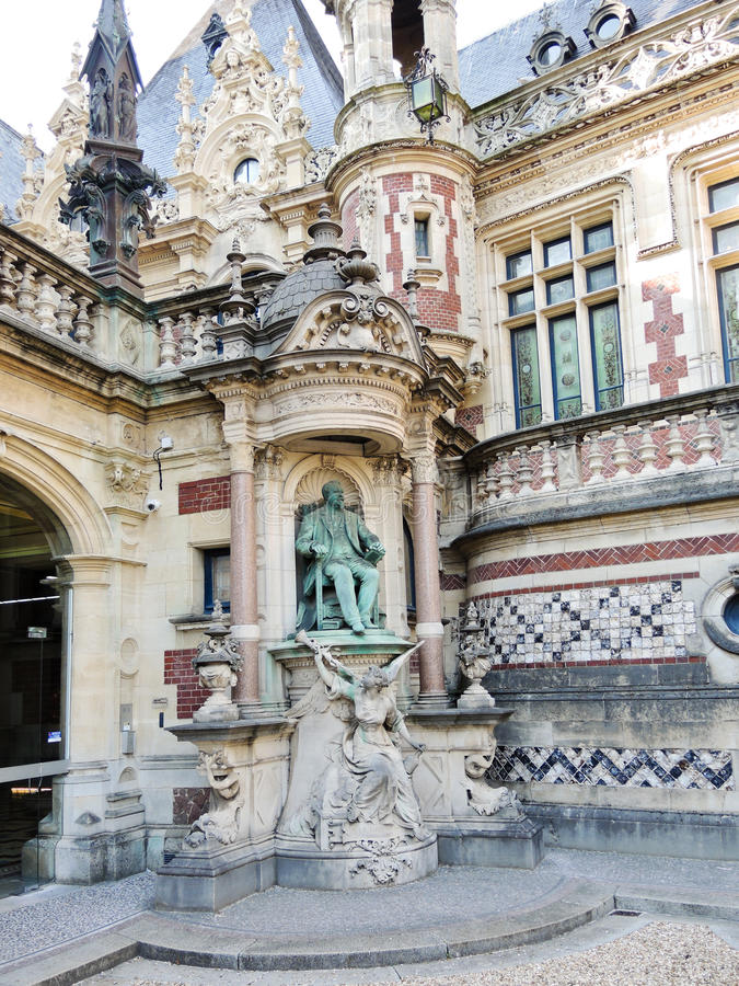 Statue of Alexandre Le Grand in Palais Benedictine royalty free stock photos
