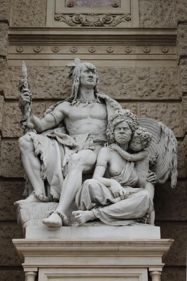 Statue of America and Australia royalty free stock image