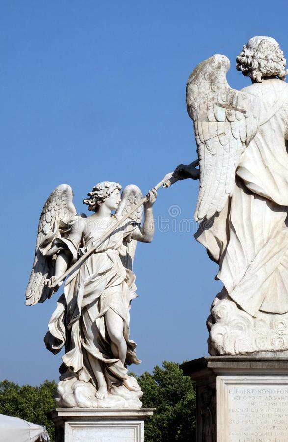 Statue of Angel with the Lance royalty free stock photos
