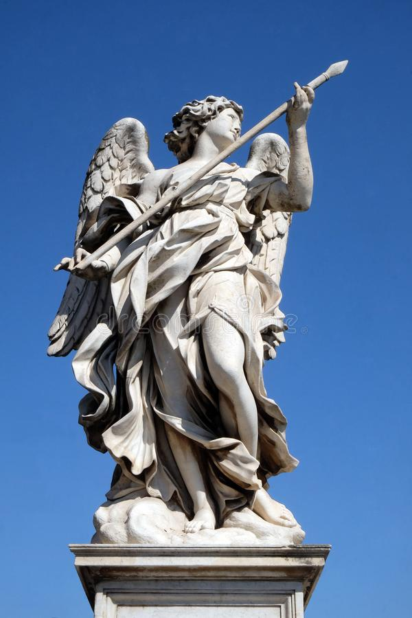 Statue of Angel with the Lance stock photo