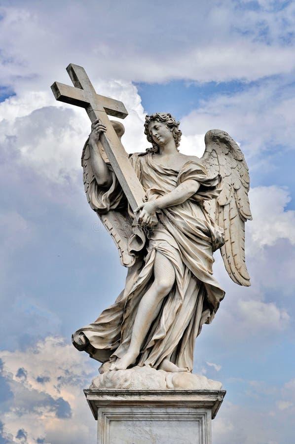 statue of angel on sant angelo bridge stock image image of angelic