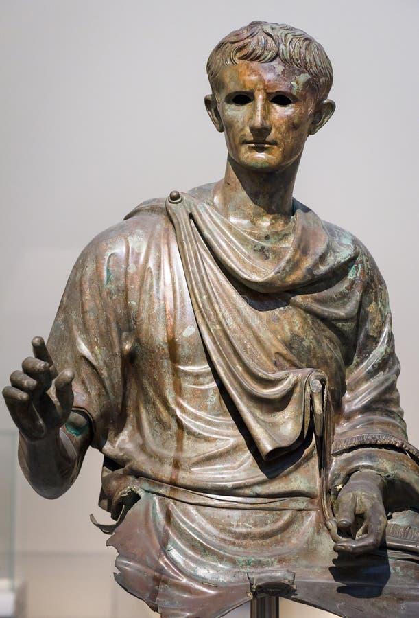 Statue antique d'empereur Augustus photo libre de droits