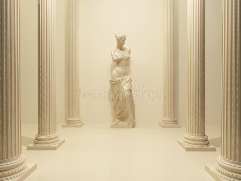 Statue antique d'un Venus nu illustration libre de droits