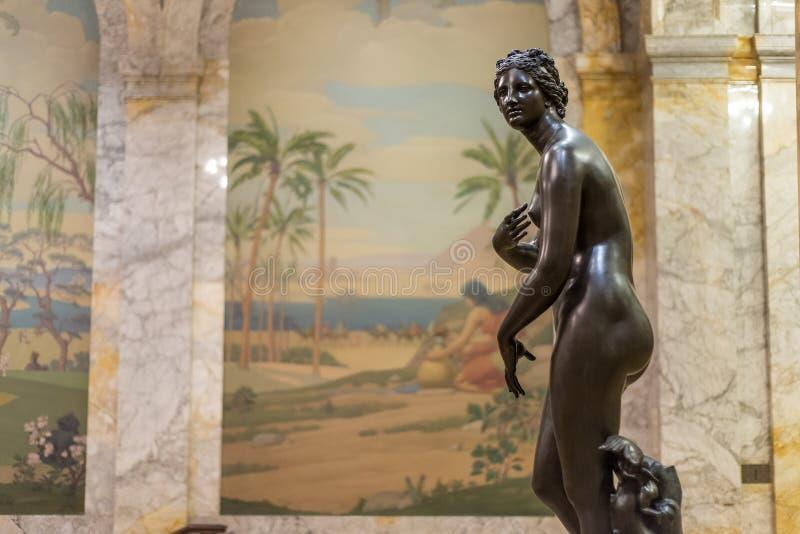Statue antique de Roman Woman photographie stock libre de droits