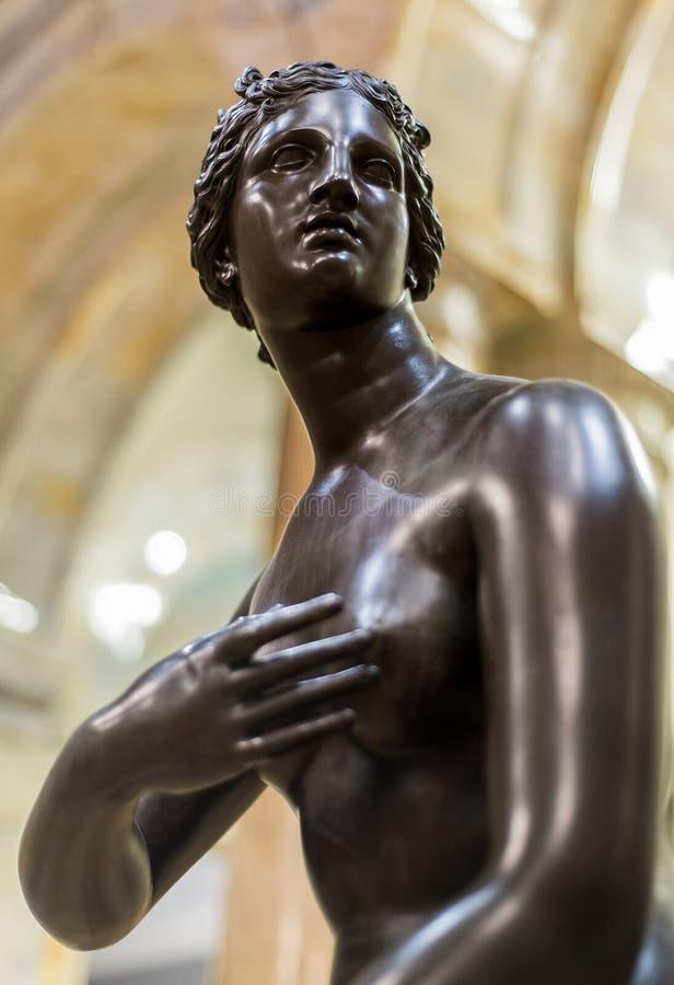 Statue antique de Roman Woman photographie stock