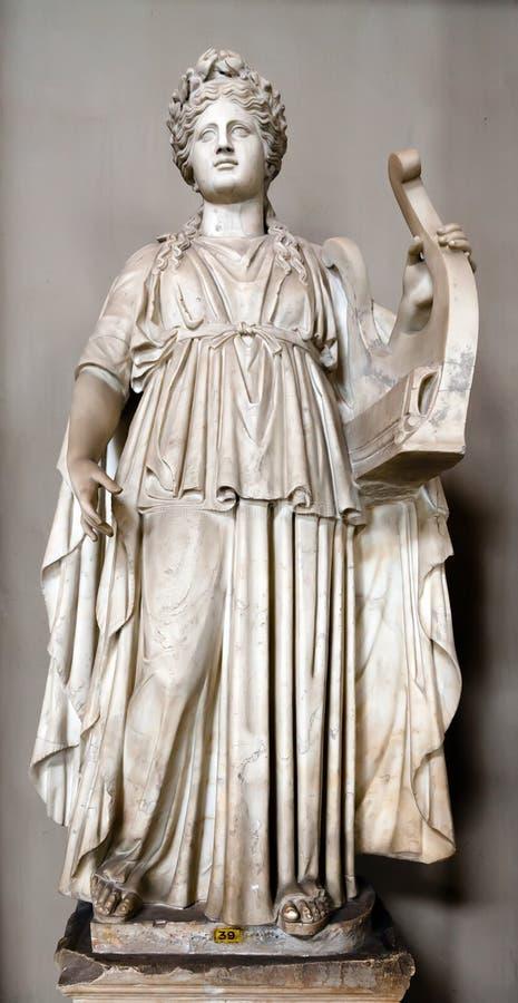 Statue of Apollo. Holding a lyre royalty free stock photos