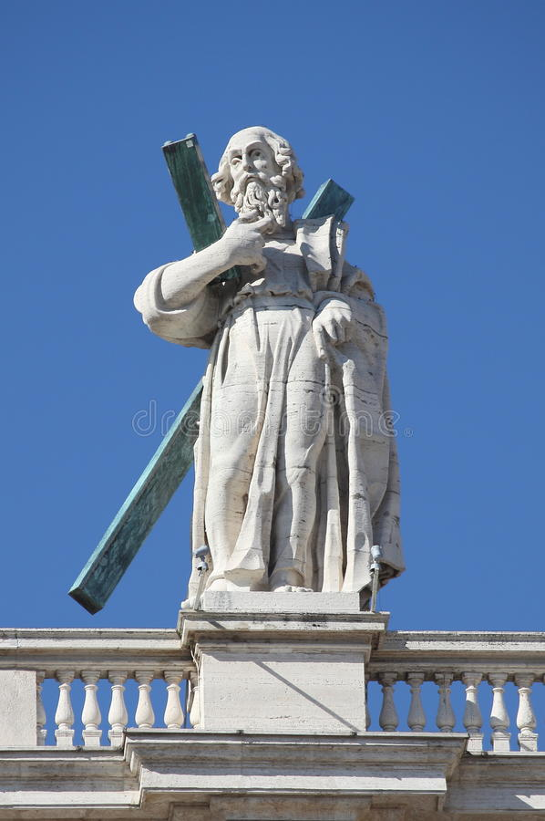 Statue of an apostle in Vatican stock images