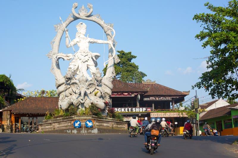 Statue of Arjuna stock image