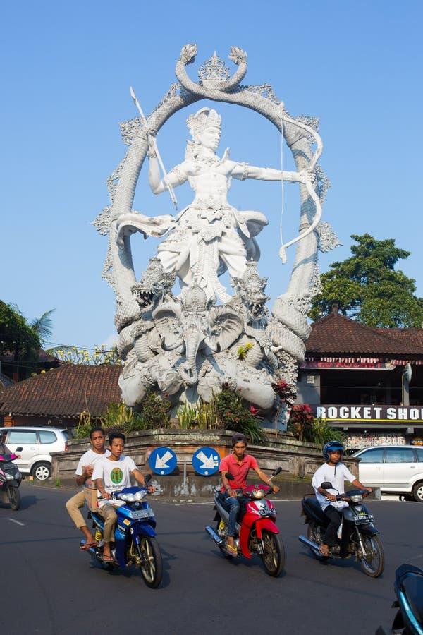 Statue of Arjuna stock photography