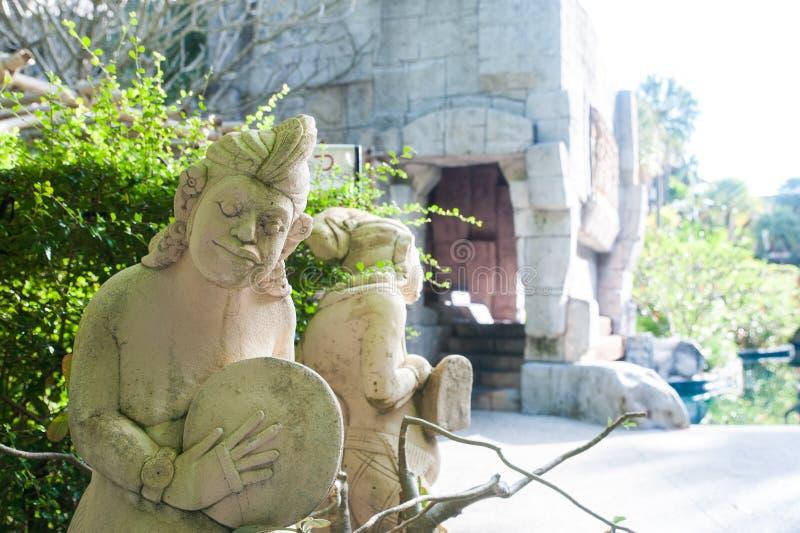Statue asiatiche tradizionali fotografia stock