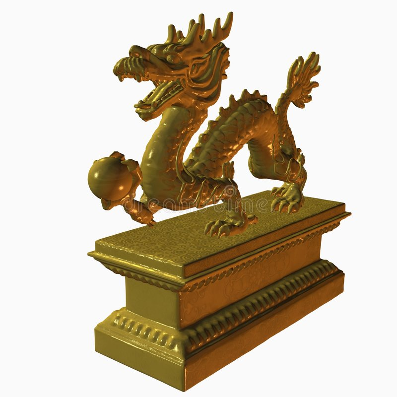 Statue asiatique de dragon illustration libre de droits