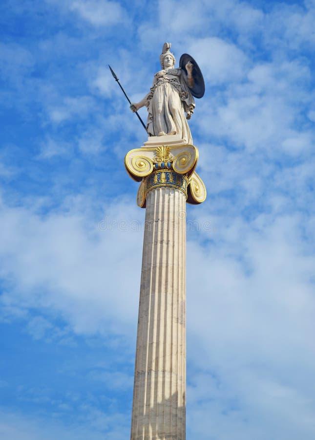 Statue Athènes Grèce d'Athéna de déesse photographie stock libre de droits