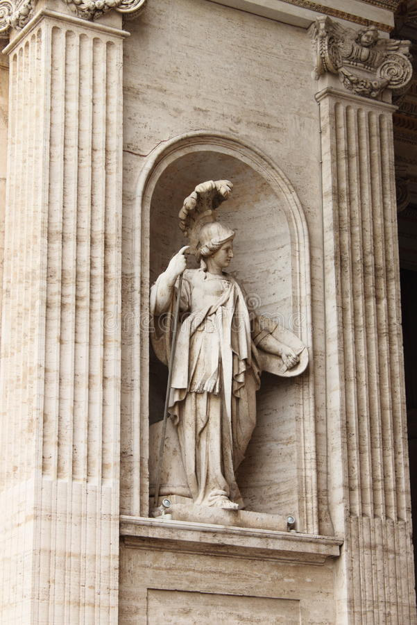 Statue of Athena stock image