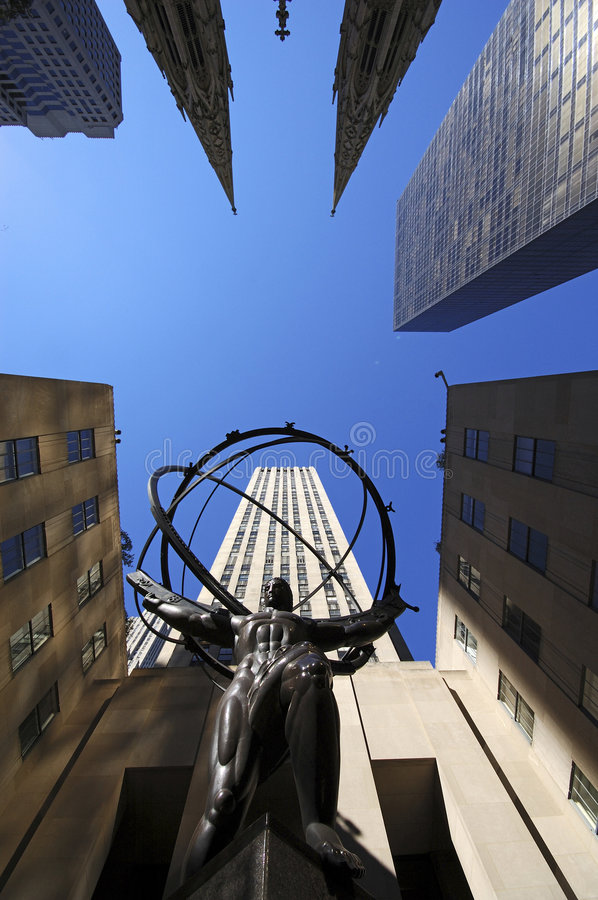 Statue of Atlas, New York royalty free stock photography