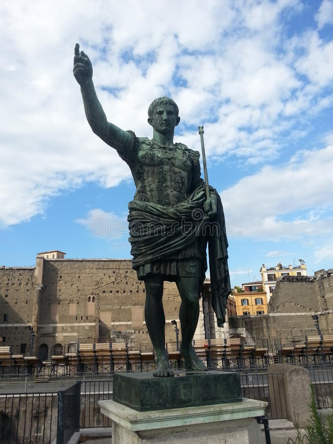 Statue of Augustus royalty free stock photo