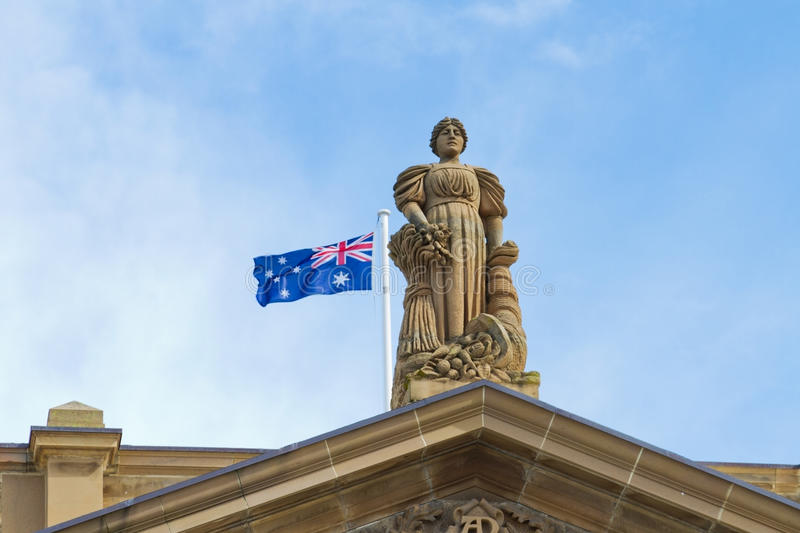Download Statue with Australia flag stock photo. Image of roof - 21184232
