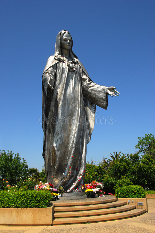 Statue bénie de Vierge Marie photos stock