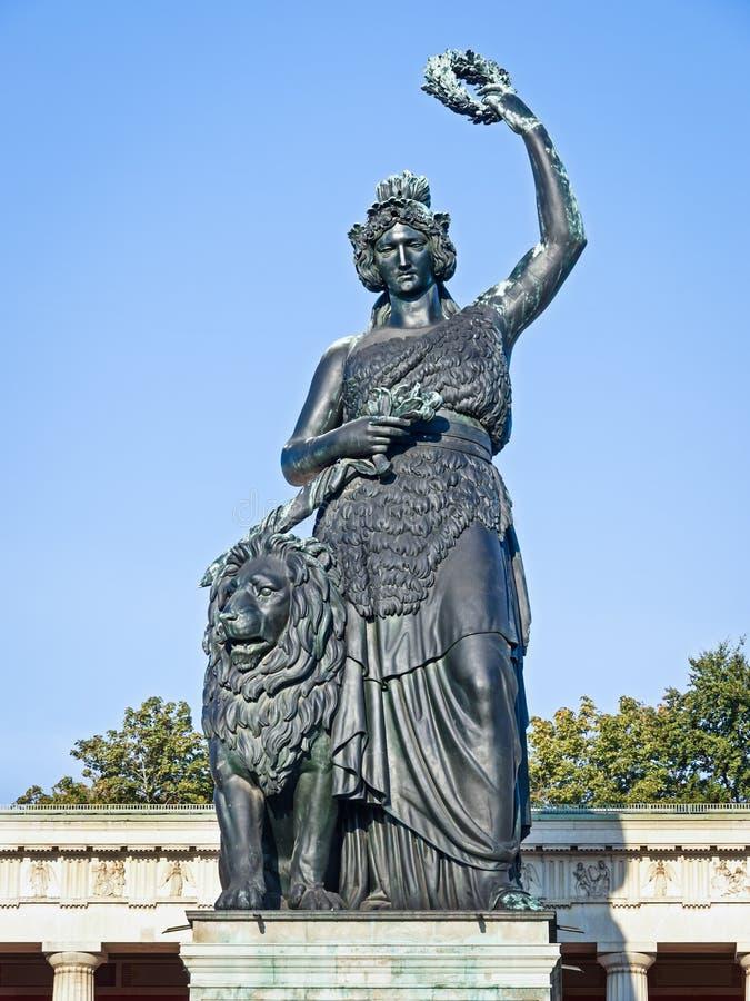 Statue of bavaria royalty free stock photo
