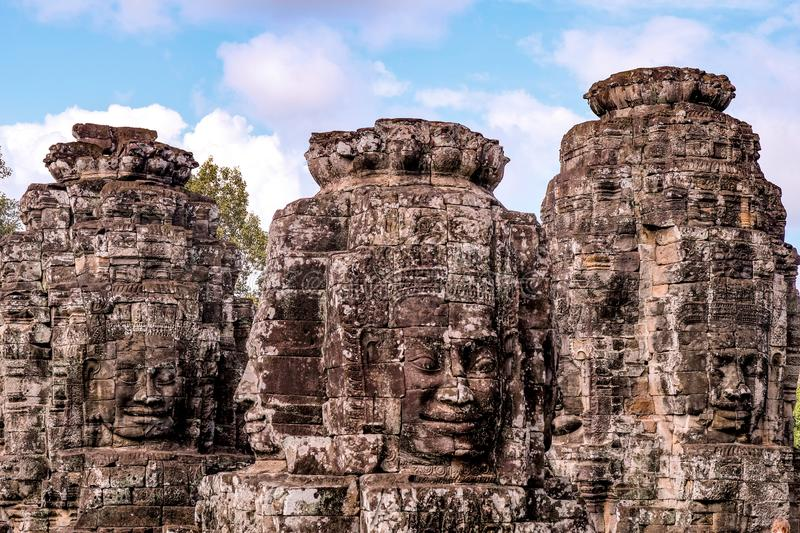 Statue in the Bayon temple royalty free stock images