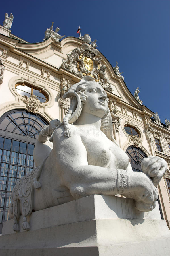 Statue at the Belvedere Palace royalty free stock image
