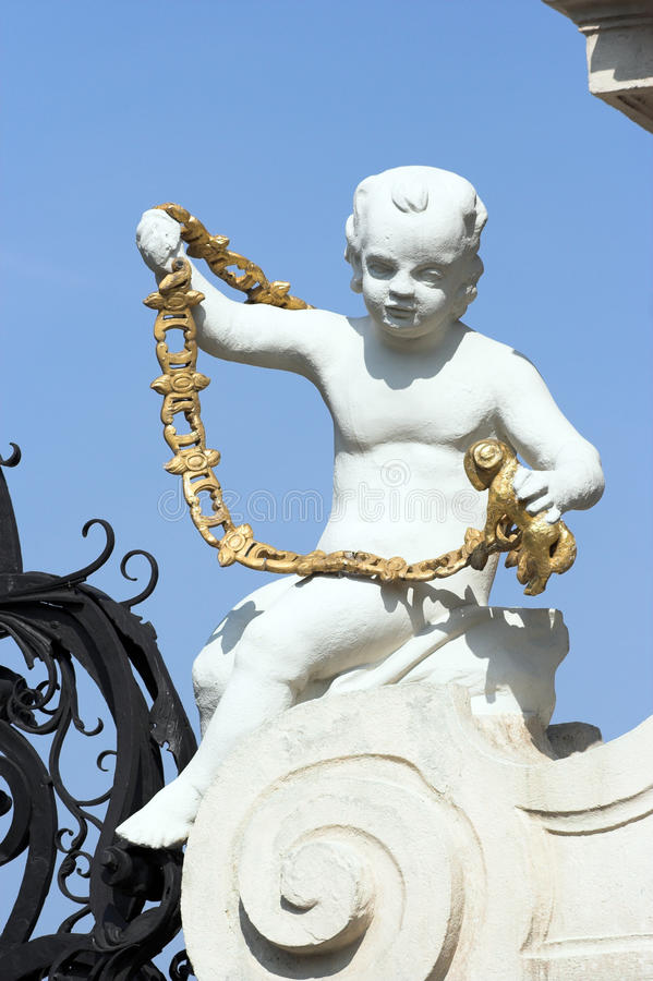 Statue at the Belvedere Palace royalty free stock photos