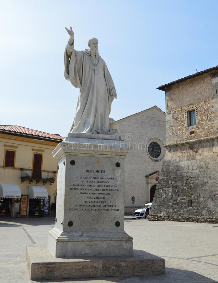 Statue of Benedict of Nursia stock photography