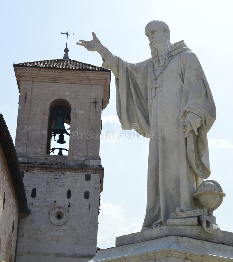 Statue of Benedict of Nursia royalty free stock photos