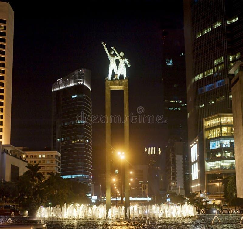 Statue bienvenue à Jakarta photographie stock libre de droits