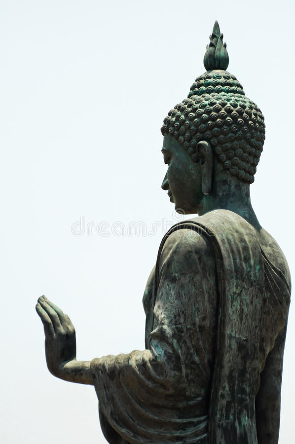 Statue of blessing Buddha royalty free stock photo