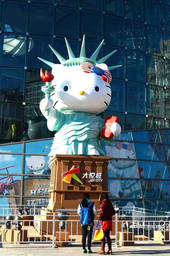 statue bonjour de minou images libres de droits