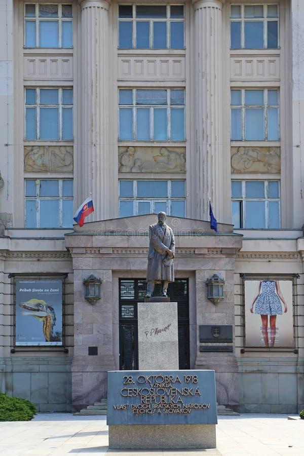 Statue Bratislava de Masaryk image libre de droits
