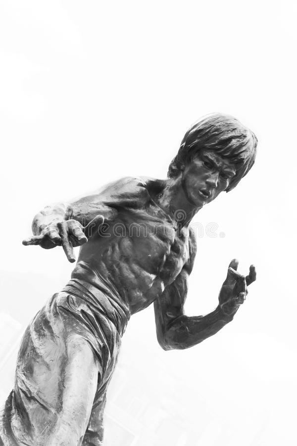 Download Statue Bruce Lee editorial image. Image of sculpture - 35689410