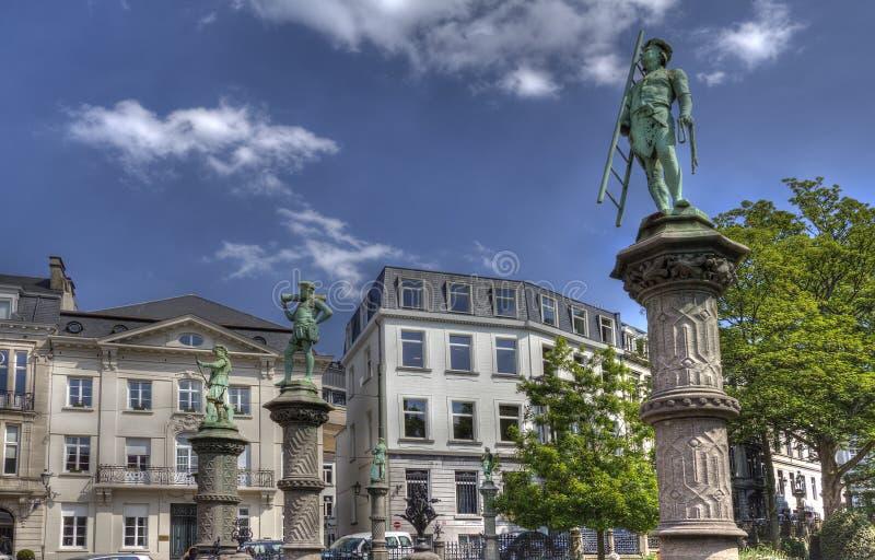 Statue a Bruxelles fotografie stock libere da diritti