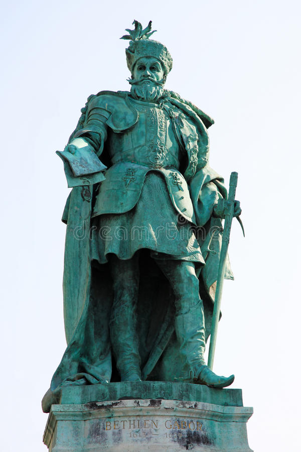 Statue of in Budapest, Hungary royalty free stock image