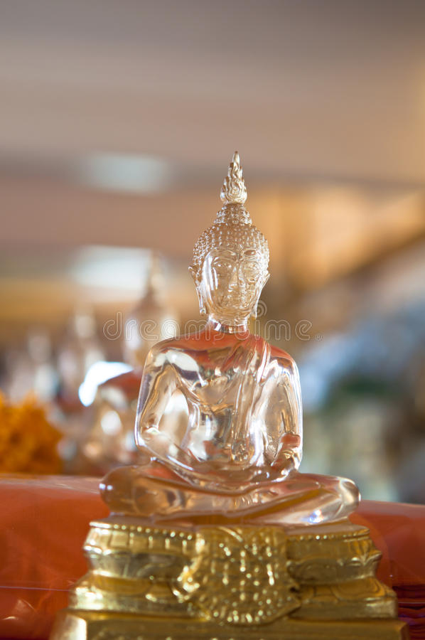 The Statue Of Buddha Made From Glass Royalty Free Stock Photography