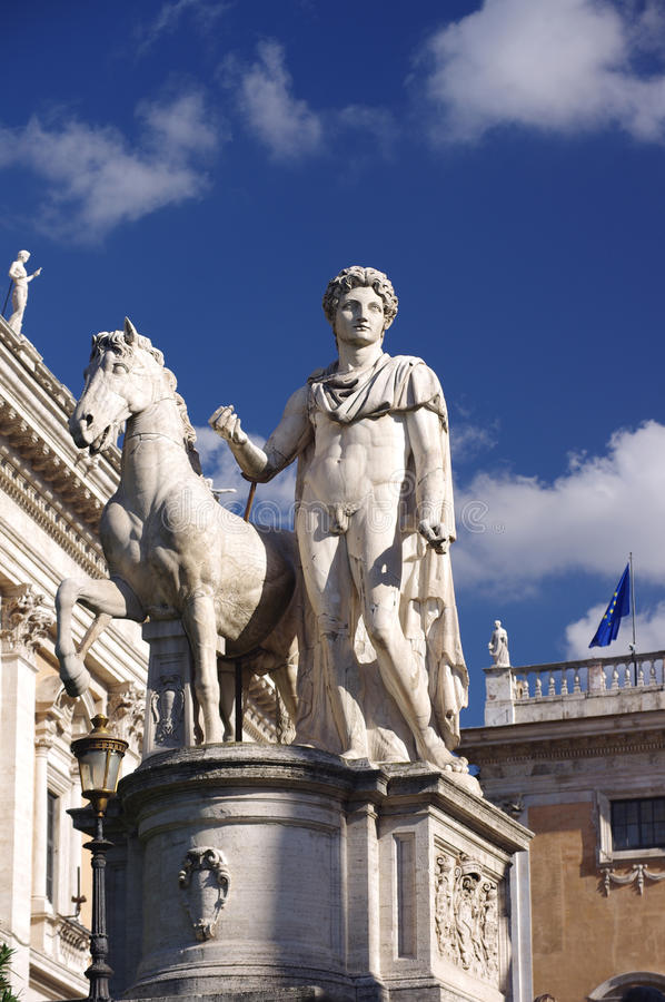 Statue At Campidoglio In Rome Royalty Free Stock